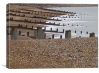 Eastbourne Beach, Canvas Print