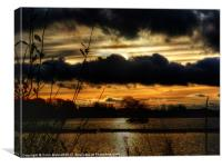 Yeadon Tarn Sunset #2, Canvas Print