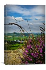 View from Otley Chevin #1, Canvas Print
