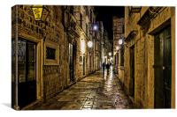 Dubrovnic at night, Canvas Print