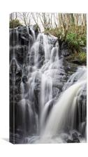 Fairlie Castle Waterfall, Canvas Print