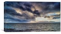Stormy Skies Over Arran, Canvas Print
