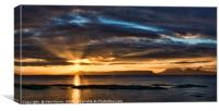 Sunset over Muck, Canvas Print