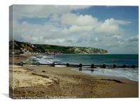Swanage Bay, Canvas Print