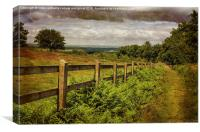 A Path From A Hill, Canvas Print