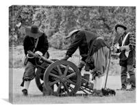 Making Ready The Cannon, Canvas Print