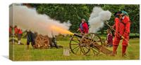 Firing The Cannon, Canvas Print