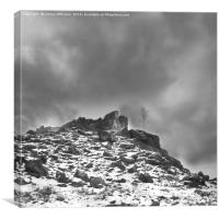 Ominous Clouds Over Beacon Hill, Leicestershire. M, Canvas Print