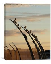 Blackpool Promenade Sculpture 2, Canvas Print