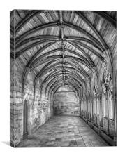 Lincoln Cathedral Cloisters, Canvas Print