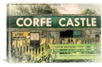 Corfe Castle Railway Station, Canvas Print