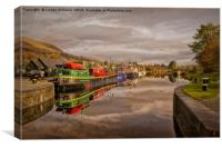 Caledonian Canal at Banavie Scotland, Canvas Print