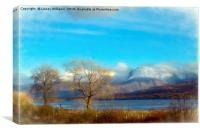 Ben Nevis and Loch Lochy, Scotland, Canvas Print