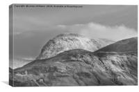 Ben Nevis, Scotland. Black and White, Canvas Print