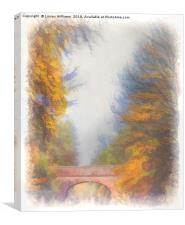 Autumn Over the Canal, Canvas Print