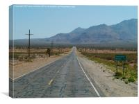 Road to the Grand Canyon - California, Canvas Print
