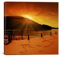 Howden Sun Burst, Canvas Print
