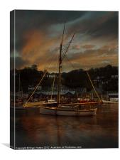 Christmas At Looe #2, Canvas Print