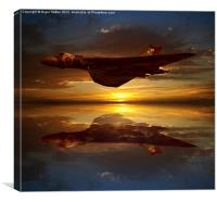 The Brilliant Vulcan XH558, Canvas Print