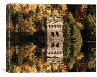 East Tower Reflections, Canvas Print