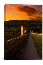 Underbank Valve House, Canvas Print