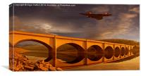 Vulcan Over Ashopton, Canvas Print