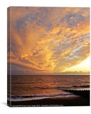 Fiery skies, Canvas Print