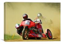 Right hand sidecar, Canvas Print