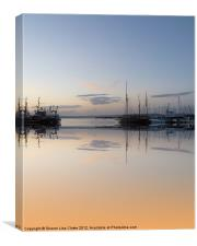 Brixham reflected, Canvas Print