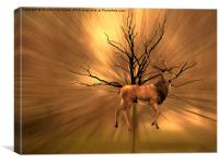 Golden Stag, Canvas Print