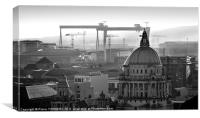 Belfast roofs, Canvas Print