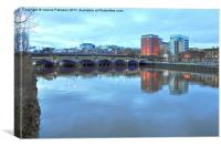 Jamaica Bridge Glasgow, Canvas Print