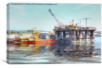Rig And Works, Canvas Print