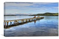 Jetty On Loch Lomond, Canvas Print