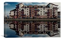 Ayr Seaview Flats, Canvas Print