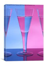 Pink & Blue Wine Glasses, Canvas Print