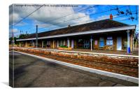 Kilwinning Train Station, Canvas Print