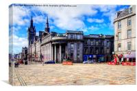 Union Street Aberdeen, Canvas Print