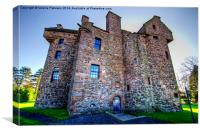 Claypotts Castle, Canvas Print