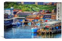 North Shields Port , Canvas Print