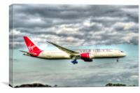 Virgin Dreamliner , Canvas Print