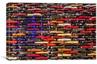 Wall of Guitars , Canvas Print