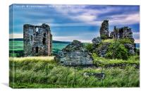 Sanquhar Castle Ruin, Canvas Print