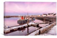 Frosty Irvine Harbour, Canvas Print