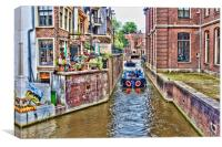 Amsterdam Canal , Canvas Print