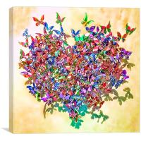 Butterfly Heart, Canvas Print