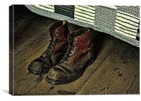 Old Boots, Canvas Print