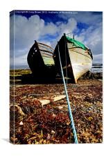 Wrecked Wooden Boats, Canvas Print