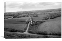 RAF Bostons on low-level strike black and white ve, Canvas Print