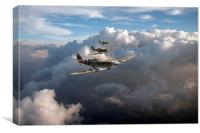 Spitfires among clouds, Canvas Print